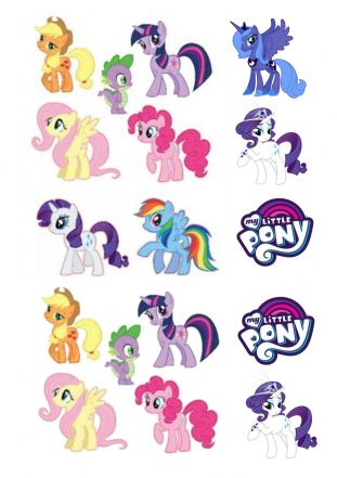 My Little Pony  Stand Up Cupcake Toppers